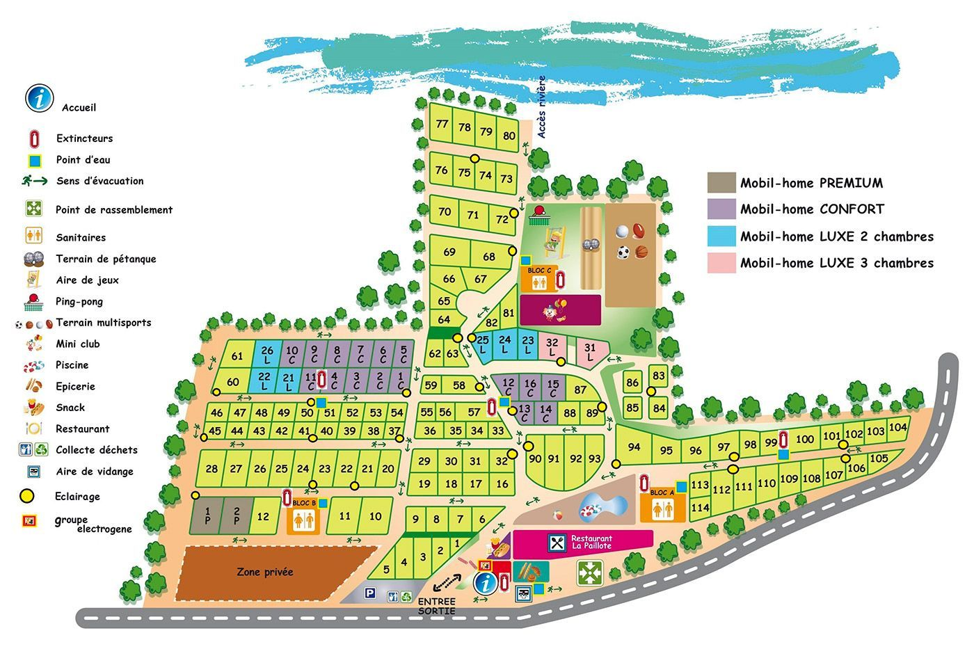 Camp-site map